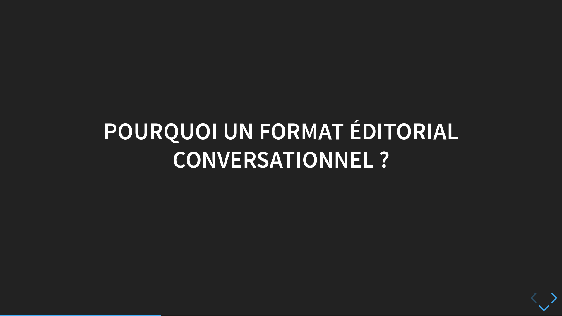 Slide3 - Pourquoi un format éditorial conversationnel